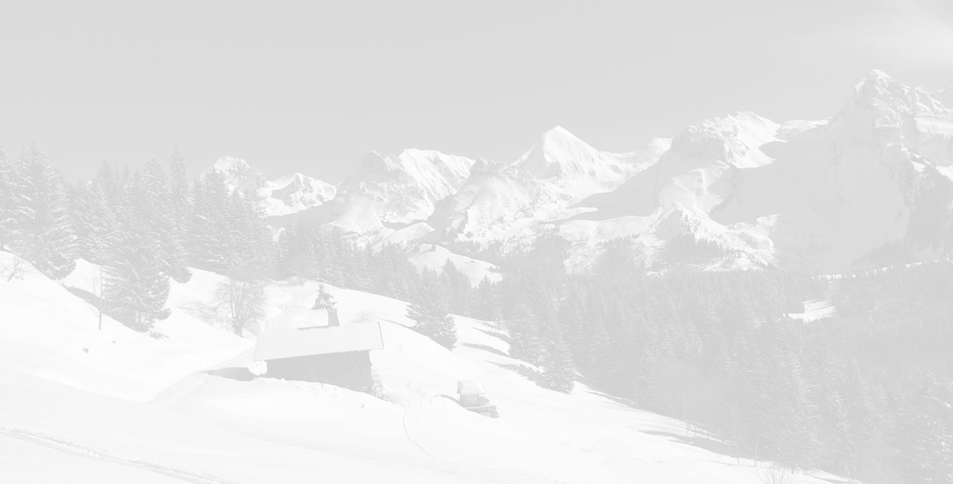 winter landscape with beautiful view on the Aravis Range